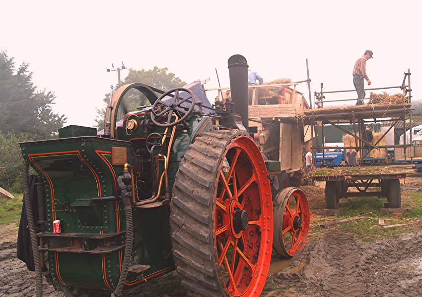 Traditional threshing techniques